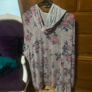 Lane Bryant hooded duster sweater. Size 26/28